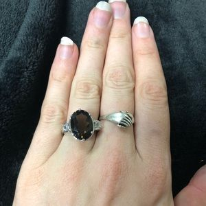 Jewelry - Sterling Silver and Gem Stone (Brown) Ring